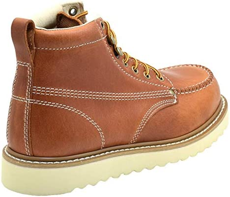Golden Fox Work Boots 6 Mens Moc Toe Wedge Comfortable Boot for Construction