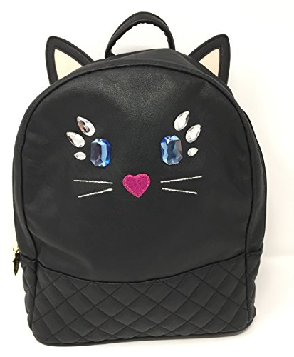 Betsey Johnson LB Lucy Black Cat Backpack ()