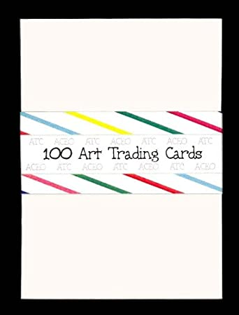 100 Blank Cream Aceo Atc Artist Trading Cards Drawing Cardstock