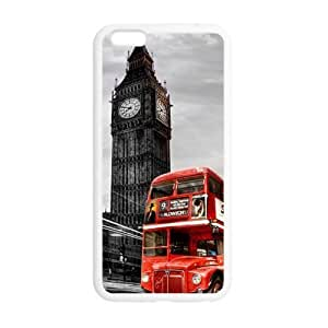 es Slim And Stylish London Red Bus with Big Ben Pattern iphone 5 5s TPU(Laser Technology) Case Cover for White And Black