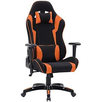 Amazon Com Corliving Lof 804 G Gaming Chair Blue Yellow