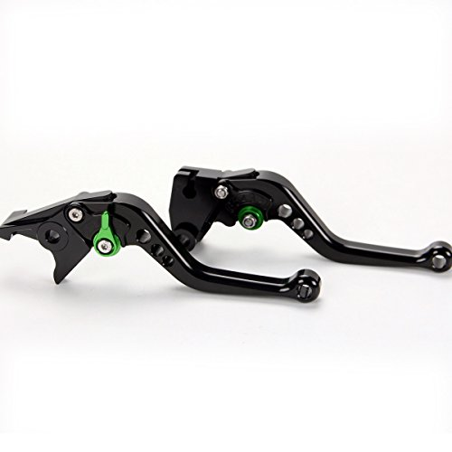 Short CNC anodized Brake Clutch Levers For Kawasaki ZX6R/636/Z1000 2007-2016, Z750R 2011-2012, ZX10R 2006-2015, Z1000SX/NINJA 1000/Tourer 2011-2016 by motor-mh