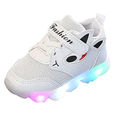 Zapatos Niño con Luces K-youth Zapatillas de Deporte Unisex Niños Zapatos Antideslizante Zapatos de Bebé Prewalker LED Luz Luminosas Flash Zapatillas ...