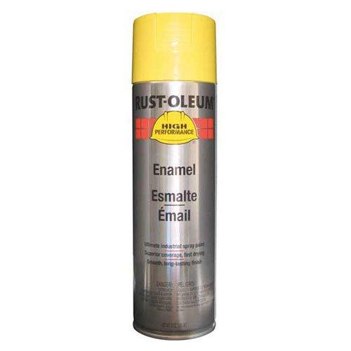 Rust-Oleum High Performance V2100 Rust Preventive Enamel Aerosol, Safety Yellow 20 oz. Can - Lot of 6