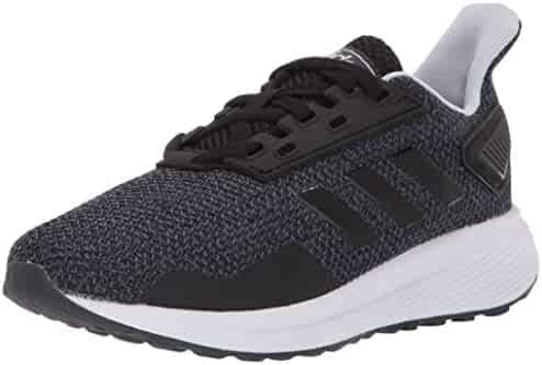 adidas Unisex Duramo 9 Running Shoe, Black/White/aero Blue, 3.5 M US Big Kid