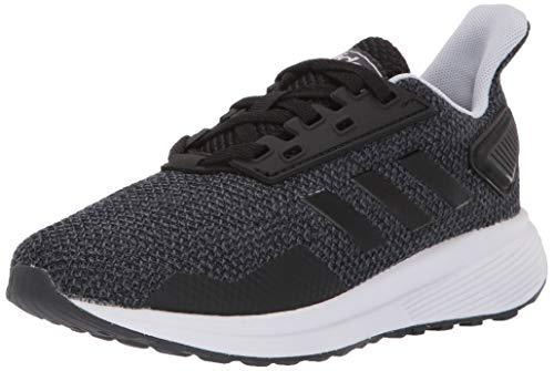 adidas Unisex Duramo 9 Running shoe, black/white/aero blue, 6.5 M US Big Kid