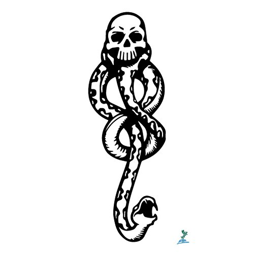 Death Eater Tattoo - Yeeech Temporary Tattoos Stickers Waterproof Magic