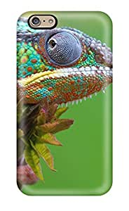 Hot Design Premium IsuOHDo684ENlNO Tpu Case Cover Iphone 6 Protection Case(colored Lizard On Top Of A Leaf)