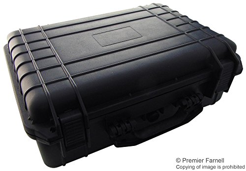 Multicomp 22-24115 Tactical ABS Weatherproof Equipment Case, Black, Built-in O-ring with Secure Latches Prevent Water and Moisture Damage to Contents, Customizable Foam ()