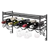 Wine Rack Iron Wall Hanging Restaurant Hotel Fan-Shaped Bar Decoration Storage