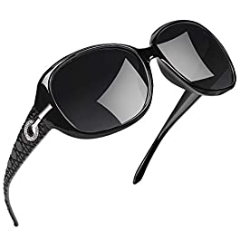Joopin Polarized Sunglasses for Women Vintage Big Frame Sun Glasses Ladies Shades