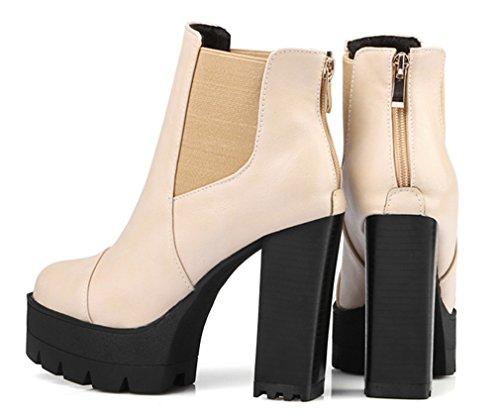 hot sale online be90d 37875 YE Damen High Heels Stiefeletten Plateau Chelsea Boots mit ...