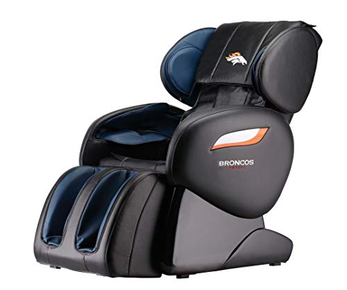 NFL Zero Gravity Full Body Electric Shiatsu Massage Chair Recliner with Built-In Heat Therapy and...