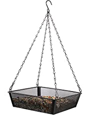 صينية معلف للطيور، منصة طعام معلقة شبكية معدنية، منصة طعام لتغذية الطيور، زخرفة الحديقة الخارجية للطيور التي تجذب الطيور البرية في الفناء الخلفي