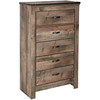 Signature Design by Ashley B446-46 Trinell Rustic Chest of Drawers, One Size