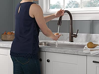 Delta Faucet Essa Single-Handle Touch Kitchen Sink Faucet with Pull Down Sprayer, Touch2O Technology and Magnetic Docking Spray Head, Venetian Bronze 9113T-RB-DST