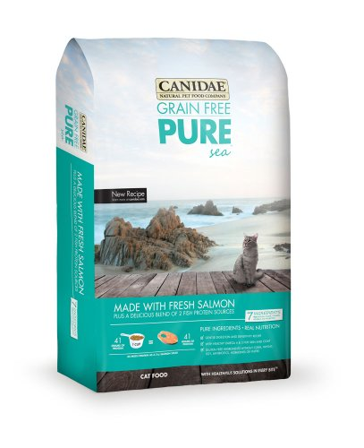 CANIDAE Grain Free PURE Sea Cat Dry Formula with Fresh Salmon, 4 lbs