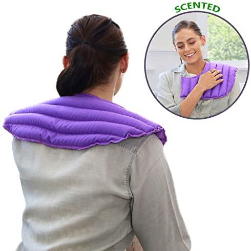 My Heating Pad - Microwavable Heating Pad for Neck and Shoulder Pain Relief | Herbal Aromatherapy | Hot/Cold Neck Wrap | Perfect for Headache, Migraine Relief, Anxiety and Stress Relief (Purple)