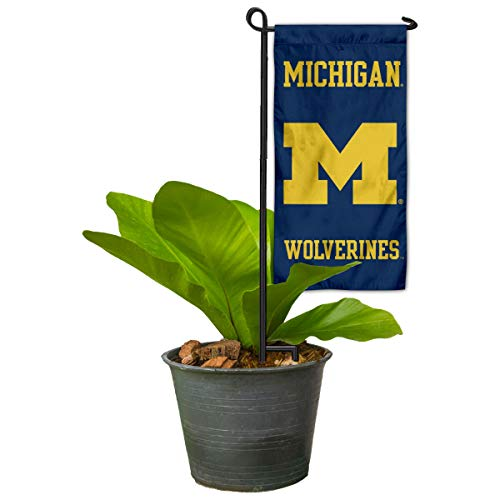 Michigan Wolverines Mini Garden and Flower Pot Flag Topper