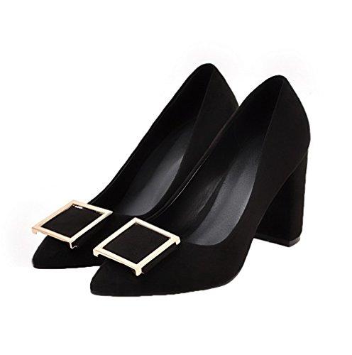 Korkokenkiä kengät Todennut toe Pu Pumput Weipoot on Musta Soild Naisten Pull xP6YYq
