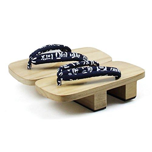 Lemail wig Mens Japanese Style wooden Geta Sandals Sem40h PE4IVWQsT3