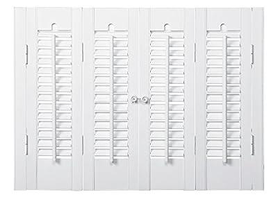 "Interior Shutter Kits 1 1/4"" Louver, Bass Wood from Home Basics"