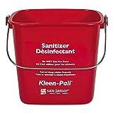 San Jamar KP97RD 3-Quart Red Kleen-Pail Container