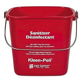 San Jamar KP97RD 3-Quart Red Kleen-Pail Container - 1 Bucket