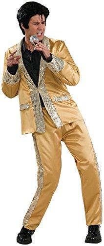 Rubie's Men's Deluxe Elvis Gold Satin Costume -