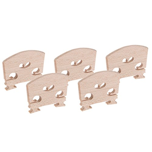 Jili Online 5 Pieces Violin String Bridge for 4/4 Acoustic Violin Parts Crafted Maple Wood ()