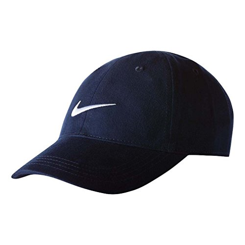 Nike Infants 1224 Months Navy Embroidered Swoosh Cap , Obsidian  (Baby Ball Cap)