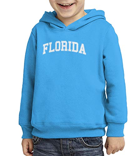 - Florida - State Proud Strong Pride Toddler/Youth Fleece Hoodie (Turquoise, Large (Youth))