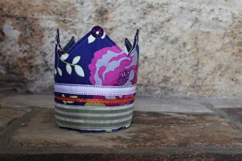 Floral Corduroy Bohemian Crown