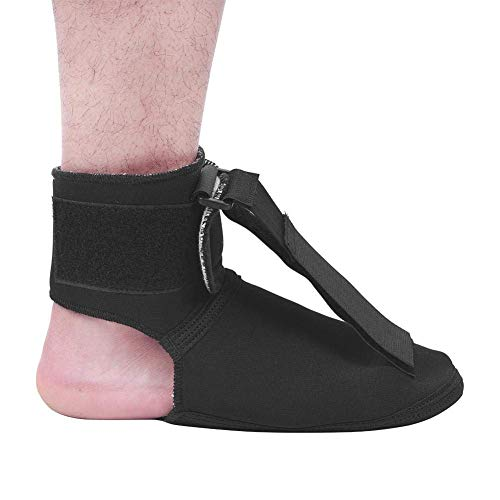 Foot Drop Brace Night Plantar Fasciitis Sleep Support Corrector for Left and Right Feet Eases Symptoms of Achilles Tendonitis Provides Support for Heel Pain (M)