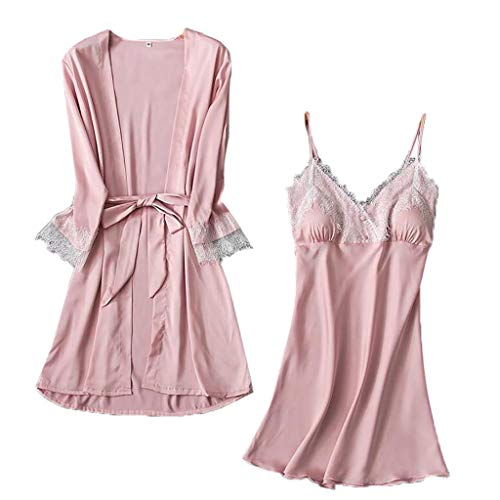 OTTATAT Sleepwear 2019 Summer Sexy V-Neck lace Pajamas for Womens,anser Calvin Cotton Covers Potty Training Detergent dividers Drawers Always Discreet Extra Large Mens Elastic ()