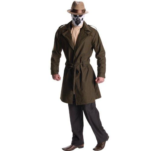 [DC Comics Watchmen Rorschach Costume, Adult Standard] (Rorschach Costume Halloween)