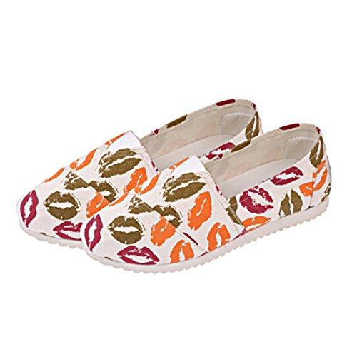 Red Shoes Espadrillas Scarpe WSA049 Donna Floreale jeansian Moda Basse Flats cWxCnRzOZ
