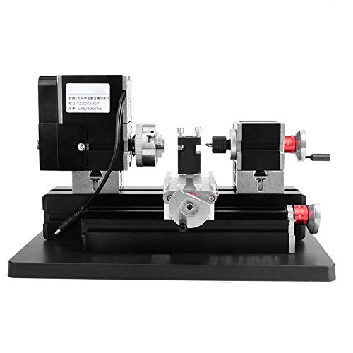 Redxiao Mini Metal Lathe, 60W Metal Lathe Woodworking Machine Jigsaw Grinder Driller for Wood Metal Lathes Milling