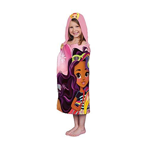 Franco Kids Bath and Beach Soft Cotton Hooded Towel Wrap, 24