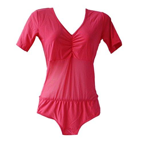 Women Belly Dance Costume Unitard Tops Short One-piece Dancewear