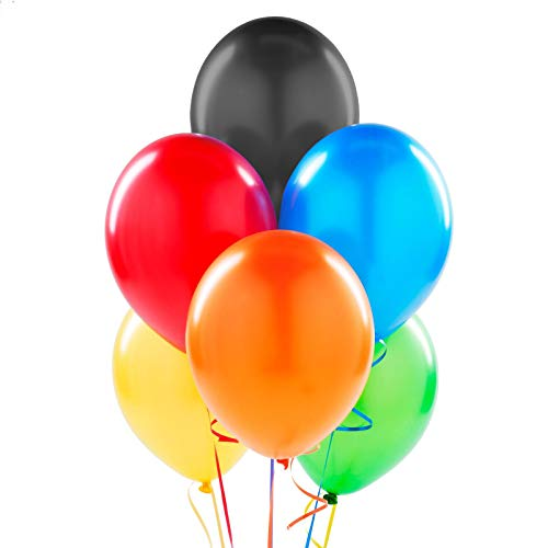 144 Colorful Latex Balloons - 11 inch Helium Balloons for Party Decoration