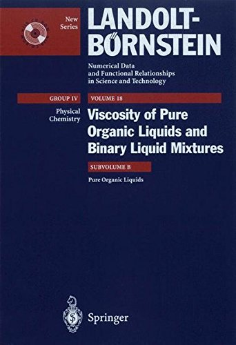 Pure Organic Liquids (Landolt-Börnstein: Numerical Data and Functional Relationships in Science and Technology - New Ser