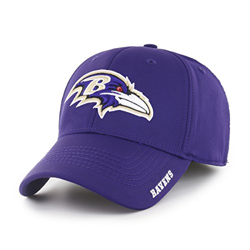 NFL Baltimore Ravens Adult Start Line Ots Center Stretch Fit Hat, Medium/Large, Purple