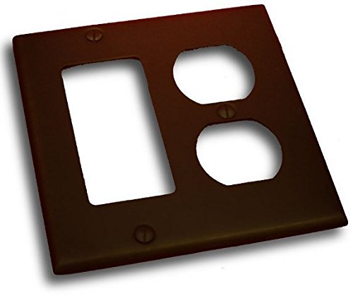 - Residential Essentials 10826VB Double Rocker and Receptacle Outlet Switch Plate, Venetian Bronze