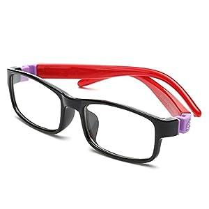 Fantia Kids Super Flex Arm Square Eyeglasses Frame for Girls and Boys Toddler (2#)