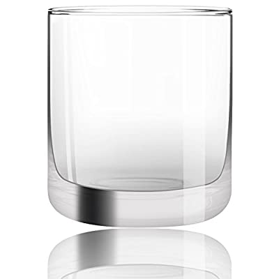 JoyJolt Nova Non-leaded Crystal Old Fashioned Whiskey Glasses, Excellent For Cocktail Bourbon Rocks Tumbler Glass 10 Ounce Bar Glassware Set of 2