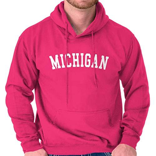 Michigan State Shirt Athletic Wear USA T Novelty Gifts Idea Fleece Hoodie