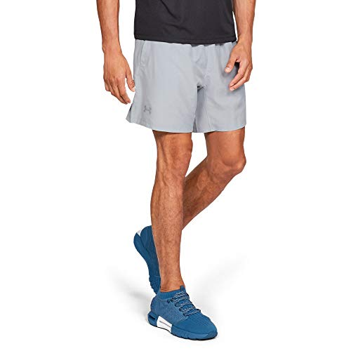 Under Armour Speed Stride 7'' Woven Shorts, Mod Gray//Reflective, Medium (Under Armour Mens Qualifier 9 Woven Shorts)