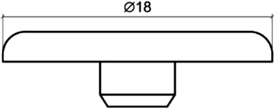 100x Tapa pl/ástico haya para exc/éntrica Rastex tornillo de racor para montaje de paneles muebles C41739 AERZETIX