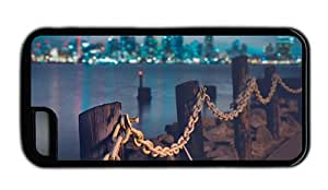 Hipster crazy iPhone 5C covers shore chains city skyline Black for Apple iPhone 5C